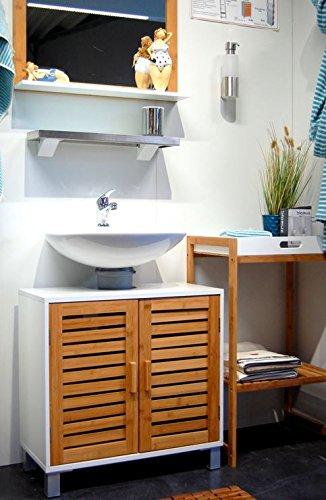 Waschbeckenunterschrank weiß stehend Landhausstil