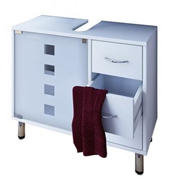 Waschbeckenunterschrank mit schubladen weiss stehend bad unterschrank darola - Waschbeckenunterschrank stehend ...